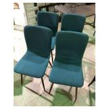 LOT OF 4 GREEN CHAIRS