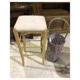 BASKET AND STOOL