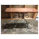 IRON AND WOOD SIDE STAND