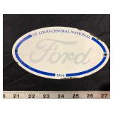 METAL FORD PLATE