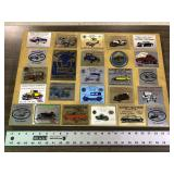 VINTAGE CAR SHOW PLATES ON BOARD