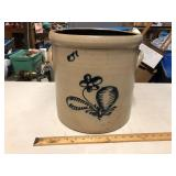 5 GALLON BUFFALO NY CROCK WITH ROCHESTER DESIGN