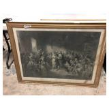 42X32 ENGRAVING MARRIAGE OF POCAHONTAS