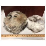 LOT OF 2 FUR HATS
