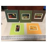 LOT OF 5 SIGNED ART