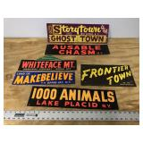 LOT OF 6 CARDBOARD SIGNS