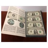 1985 UNCUT $1 BILL SHEET