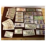 LARGE LOT OF FOREIGN CURRENCY