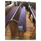 12 FT CHURCH PEW