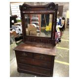 2 OVER 2 DRESSER WITH MIRROR