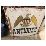 LARGE HANGING ANTIQUES SIGN