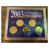 2003 GOLD LAYERED QUARTER SET