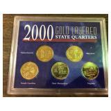 2000 GOLD LAYERED QUARTER SET