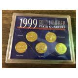 1999GOLD LAYERED QUARTER SET