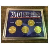 2001 GOLD LAYERED QUARTER SET