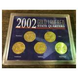 2002 GOLD LAYERED QUARTER SET
