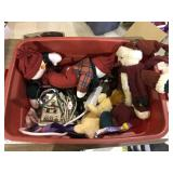 TOTE FULL OF CHRISTMAS ITEMS