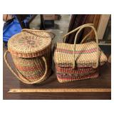 LOT OF 2 BASKETS