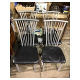 LOT OF 4 METAL CHAIRS