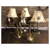 LOT OF 4 HOTEL LAMPS