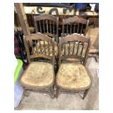 LOT OF 4 ANTIQUE CHAIRS