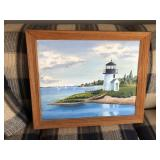 LIGHT HOUSE PAINTING ON CANVAS