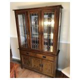 LIGHTED 2 PIECE HUTCH