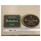 PAIR OF HEINEKEN ADVERTISING SIGNS