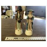 PAIR OF VICTORIAN GIRLS DECANTERS
