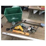 ASSORTED TOOLS AND BIN