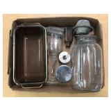 PYREX, BOTTLE AND MISC