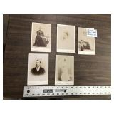 LOT OF 5 CABINET CARDS
