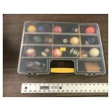 POOL BALLS WITH CASE