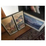 LOT OF 3 FRAMED PICTURES