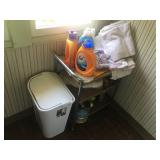 SOAP, CART AND TRASH CAN