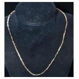 "16"" 18kt Gold 3 Strand Serpentine Necklace"