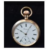 "Antique Gold ""Prescot"" Lancashire Pocket Watch"
