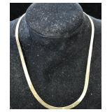 "16"" 10kt Gold Herringbone Necklace 9.2g"