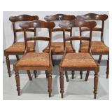 5 Pcs Antique Mahogany Dining Chairs