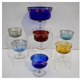 7 pcs Bohemian Glass Dessert Set