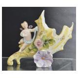 Antique Porcelain Cherub Vase