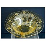 Vintage Topaz Elegant Glass Center Bowl
