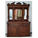 Edwardian Mirrored Back Sideboard c1890