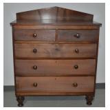 """Antique Walnut Dresser c1860 - 51""""h x 42.5""""l x 19"""""""