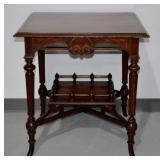 """Antique Eastlake Parlor Table - 29.5""""h x 28""""l x 28"""