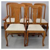 5 pcs Oak Dining Chairs