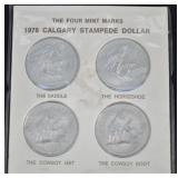 1978 CAD Calgary Stampede $1 4 Mint Tokens