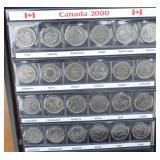 RCM CAD .25c  2000 Millienium Coins