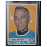 1970 Jacques Plante Hockey Card OPC 222