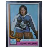 1974 Dunc Wison Hockey Card OPC 327